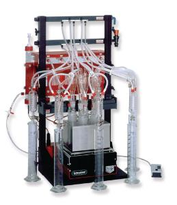 Distillation apparatus, Behrotest® WE 5 and associated glassware