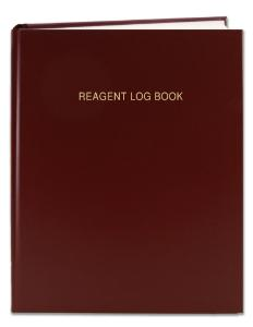 Reagent log book cover, red
