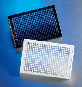 Clear bottom, black and white, polystyrene microplates