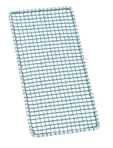 Plastic wire netted lid for half basket coated with metal frame, A2