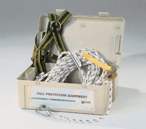 Fall protection kit for roof work