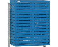 Perforated tool cabinet